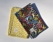 """Burp Cloth Gift Set in """"Leaves & Wildflowers"""" : 100% organic cotton"""