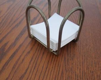 Vintage Brass Memo Pad Scratch Pad Scribble Pad Note Pad Holder