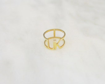 UK 14k Gold Pinky Ring or Midi Ring United Kingdom