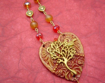 """Handmade necklace """"Phoenix"""" made in Italy"""