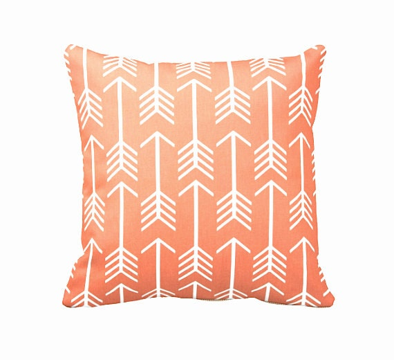 Dimensions Of Throw Pillow : 7 Sizes Available: Orange Throw Pillow Cover Decorative Pillow