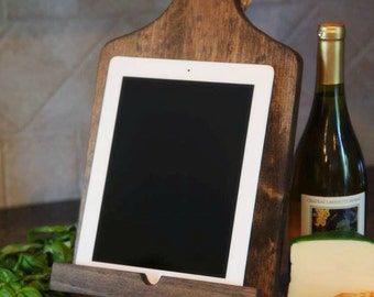 Cookbook stand, iPad stand, Personalized Cookbook Holder, Recipe holder, Farmhouse decor