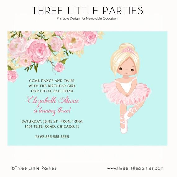 Tutu Birthday Invitation as great invitations ideas