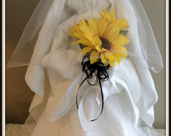 Wedding Bridal Shower Small Bride made of all towels Bridal Shower Centerpiece Wedding Shower