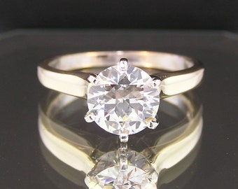1.83ct Diamond Solitaire 14k Yellow White Gold Engagement / Wedding / Anniversary Ring