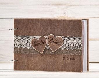Wedding Guest Book Wooden Guest Book Guestbook Country Wedding Decoration Guest Books Pen Wooden Advice Book Big Book A - 4 format