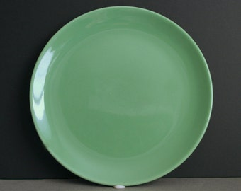 "2 Franciscan El Patio Chop Platters in Glossy Apple Green | Large 12"" Round 