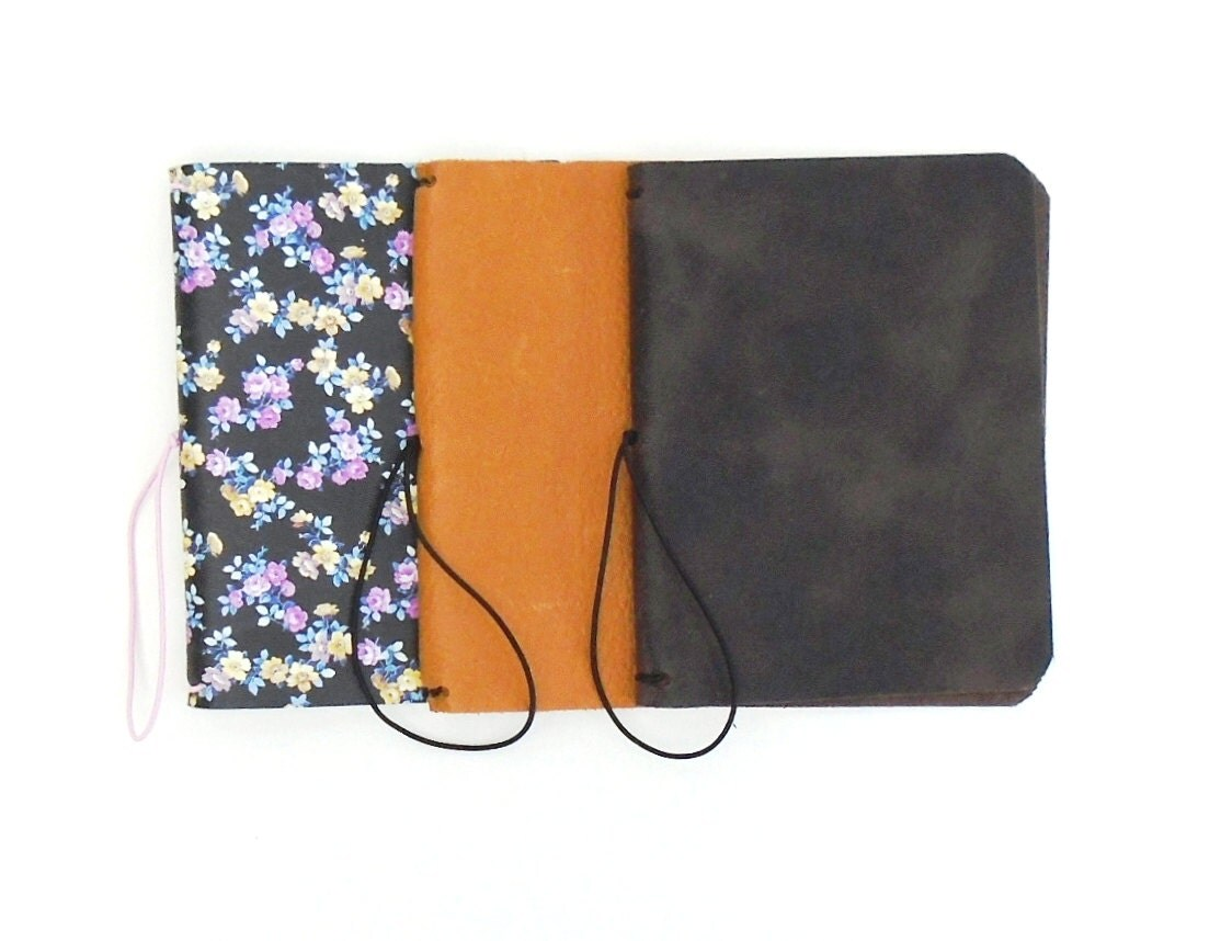 Book Cover Black Jackets ~ Refillable cover leather book jacket travellers notebook