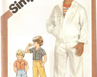 VINTAGE Simplicity Sewing Pattern 5869 - Children's Clothes - Boys pants, shorts, shirt and jacket, Size 5