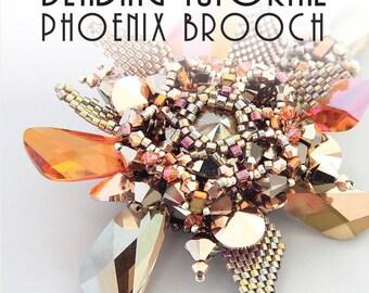PHOENIX BROOCH TUTORIAL / pdf instant tutorial
