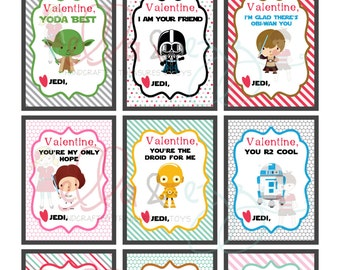 Printable Valentines, Star Wars Printable Valentines, Star Wars Cards, Star Wars Instant Download, Star Wars PDF, Kids Valentines
