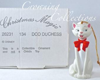 Disney Grolier Duchess Ornament The Aristocats Christmas Magic in Box DCO Vintage Santa Hat Beautiful Rare