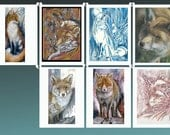 Fox Card Collection - all from original artwork by D Y Hide