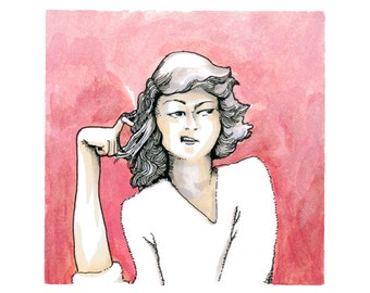 The Critics - Pink Lady: limited edition giclee print