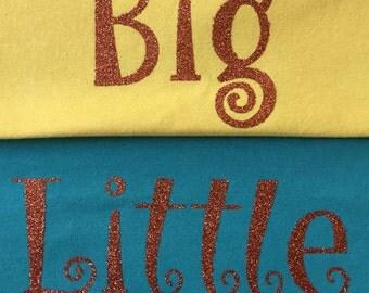 DIY Curly Glitter Iron-on   DIY Big Little Shirt   Big Little Sorority Family Shirt Decal