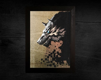 The Legend of Zelda Twilight Princess Wolf Link Print