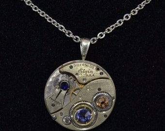 Vintage Steampunk Wrist Watch Necklace