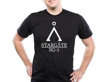 Stargate SG1 T-Shirt Vintage Stargate Atlantis Top T Shirt Universe Tee