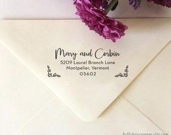 Personalized Return Address Stamp, Custom Address Stamp, Self-Inking Address Stamp, Wooden Rubber Stamp, Wedding Stamp, Housewarming Gift