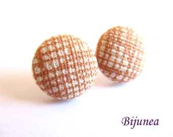 Brown earrings - Brown stud earrings - Brown posts - Brown studs - Brown post earrings sf1274