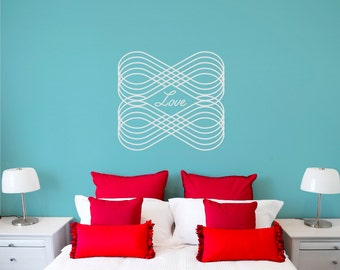 Infinity wall decal, Love wall decal, eternal love wall sticker, decorative wall decal, word decal, quote decal