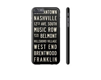 NASHVILLE iPhone Case, iPhone 7 Cover, iPhone 6 Plus Cover, Samsung Galaxy s7 Case, Protective iPhone Cases, Black & White Phone Case.