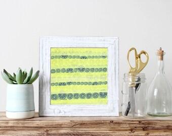 Neon Art - Citrus Art - Lime Art - Neon Decor - Citrus Decor - Lime Decor - Neon Wall Art - Citrus Wall Art - Lime Wall Art - Kitchen Art