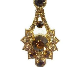 Topaz Bridal Necklace, Citrine Gold Necklace, Art Deco Bridesmaid Necklace, Geometric Jewelry, Swarovski Crystal Jewelry, Gift for Her, RAYS
