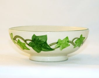 1950s FRANCISCAN IVY OATMEAL Bowl Straight Footed Bowl Gladding McBean & Company Retro Kitchen Decor
