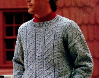 Guernsey Pullover Sweater Vintage Knitting Pattern Download