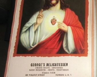 Religious Calendar George's Delicatessen Yonkers N.Y. Vintage 1958 again 2025