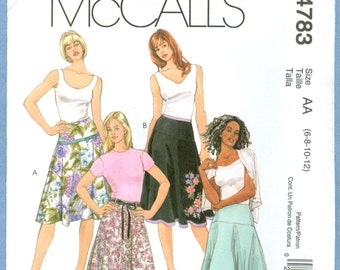 2005 Misses' Yoked Skirt UC FF Size 6,8,10,12 - McCall's Sewing Pattern 4783
