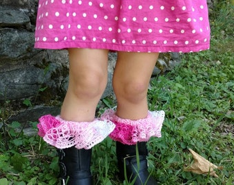PATTERN #124: Children's Knit Ruffled Top Boot Cuffs, Pattern Incl 4 Sizes - Instant Download PDF Digital File/Pattern
