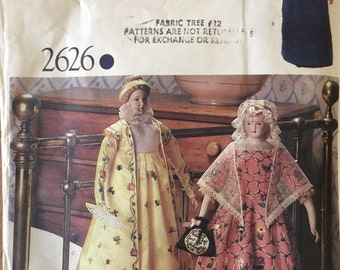 """VTG 2626 Vogue (1980's) Collector's Heritage Dolls.  Doll Size 21"""".  Complete, unused, FF.  Excellent condition."""