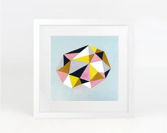 Gem II - abstract geometric art print