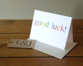 Good luck card - thinking of you - card for exams - good luck son - good luck daughter - friend card - new job - fingers crossed - exam card