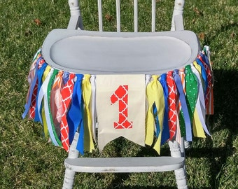 Circus Birthday High Chair Carnival Banner Party Photo Prop Bunting Backdrop Sesame Street First One Superhero
