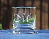 Custom Whiskey glasses, 2 Personalized rock glasses, pair, Manly present, Wedding gift, Chic Bar