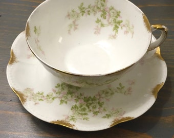 Teacup Candle - Custom Scent and Color - Haviland - The Beatrice