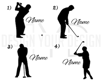 Custom Golf Decal - With Name Players