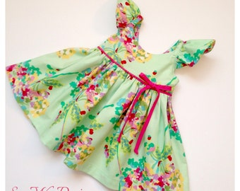 Girls dress girls clothing spring dress summer dress toddler dress baby dress flower girl dress special occasion dress Any Butler SWD611