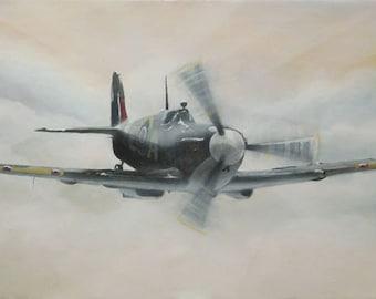 "Spitfire art print - ""Legend"" - mounted, ready to frame"