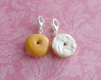 Best Friend Gifts Miniature Food Jewelry Cream Cheese Bagel Charm Set