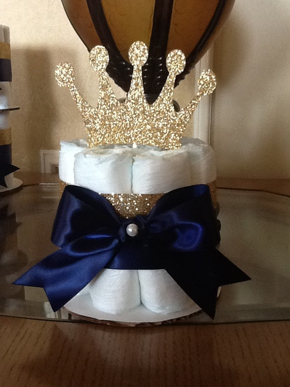 Prince Baby Shower Centerpiece God And Navy Prince Baby