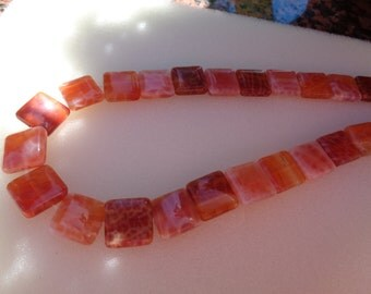 Agate, fire agate, square pillow