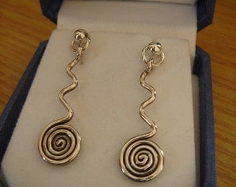 925 spiral earrings, very fancy!