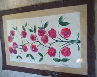 Wild Roses Floor Cloth