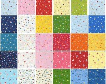 Minny Muu Spring 2015 fabric charm pack by Lecien