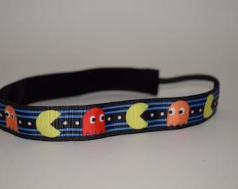Pac Man Headband- Pac-Man Headband- Pac-Man- Sport Headband- Non-slip Pac Man Headband- No Slip Pac Man Headband
