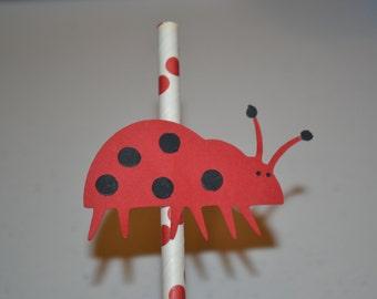 Ladybug Straw Topper/Ladybug Topper/Ladybug/Ladybug Birthday/Ladybug Baby Shower/Straw Toppers/Ladybug Straw Toppers